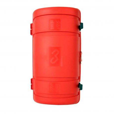 CAS06010 Erikoismatala pvc muovikotelo ajoneuvotelineellä, 6kg sammuttimelle
