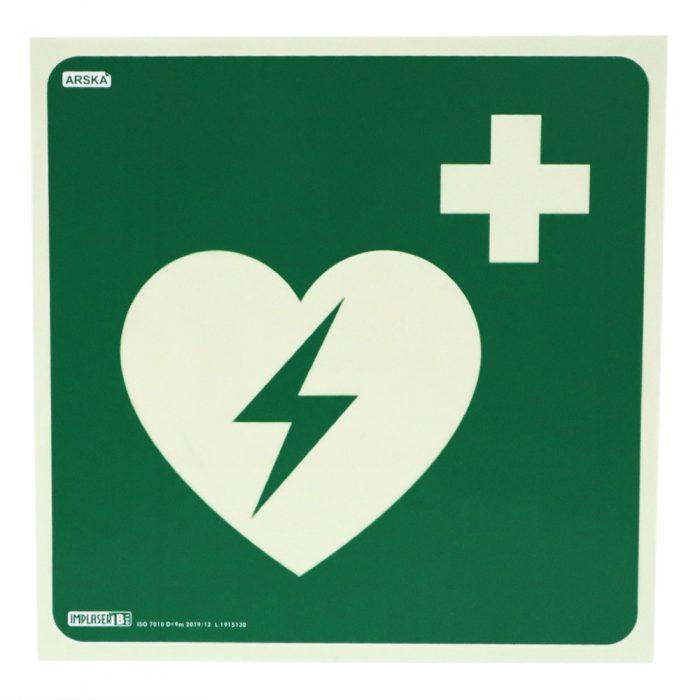 Jälkivalaiseva Defibrillaattori opastekyltti